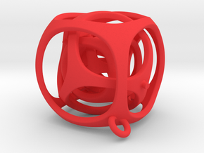 Gyro the Cube (S) (Ring + Smooth) in Red Strong & Flexible Polished