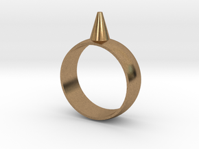 9.5 223-Designs Bullet Button Ring Size  in Natural Brass