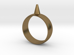 11.5 223-Designs Bullet Button Ring Size  in Natural Bronze