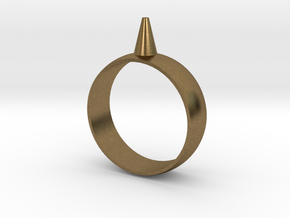 223-Designs Bullet Button Ring Size 12.5 in Natural Bronze