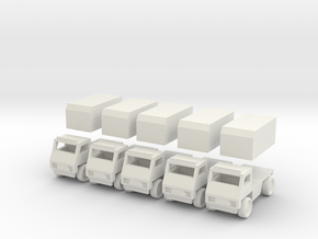 Civilian truck [ 5 Pack ] in White Natural Versatile Plastic