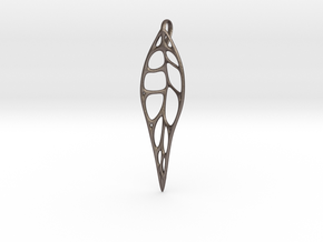 Gum Leaf Skeleton: 10cm in Polished Bronzed Silver Steel