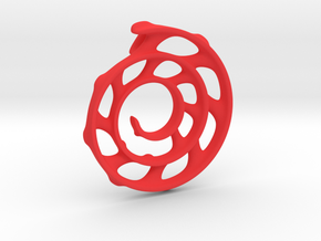 Koru Spiral: 5cm in Red Processed Versatile Plastic