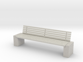 Garden bench 1-24 in Full Color Sandstone
