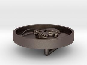 Dreadnok Belt Buckle 01 in Polished Bronzed Silver Steel