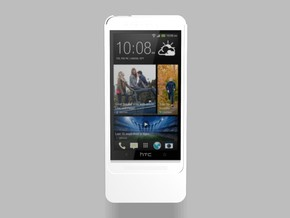HTC One M7 3200mah Charger with USB Power Out in White Natural Versatile Plastic
