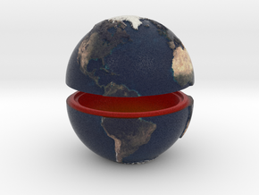 Tactile Miniature Earth (No Stand) in Full Color Sandstone