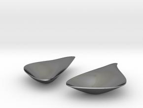 LEAF_pair of earrings in Polished Silver