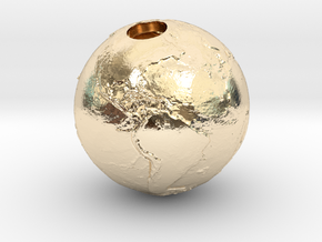 Earth Without Water (Pendant 20mm) in 14K Yellow Gold