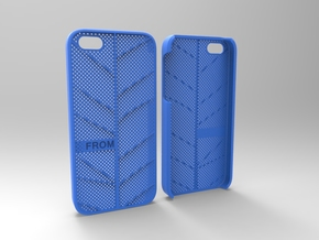 Iphone5 Case 2_3 in Blue Strong & Flexible Polished