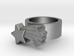 123d Design Ring in Natural Silver