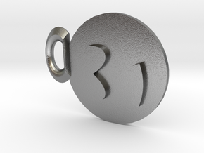 Smiley Pendant in Natural Silver
