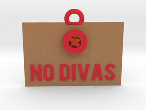 No Divas Sign(2) in Full Color Sandstone