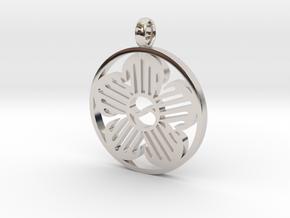 Immortal Flower Pendant in Platinum