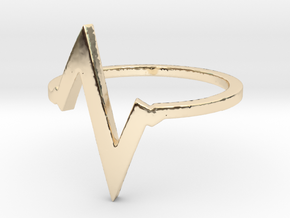 Heartbeat Ring Size 7 in 14K Yellow Gold