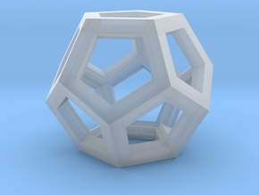 Dodecahedron Necklace Pendant in Smooth Fine Detail Plastic