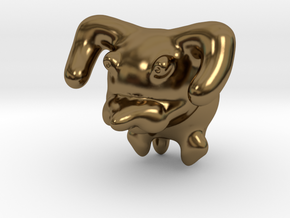 Dog in Polished Bronze