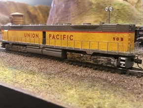 EMD DD35 Dummy N Scale 1:160 in Frosted Ultra Detail