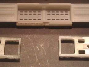 EMD DD35 Dummy Chassis N Scale 1:160 in Frosted Ultra Detail