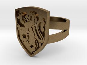 Gryffindor Ring Size 7 in Natural Bronze