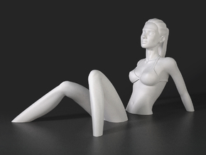 Sinking Girl Art Sculpture in White Strong & Flexible