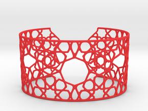 Silver Cairo Arab Bracelet in Red Processed Versatile Plastic