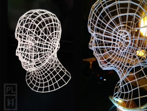 Wirehead 200mm in White Natural Versatile Plastic