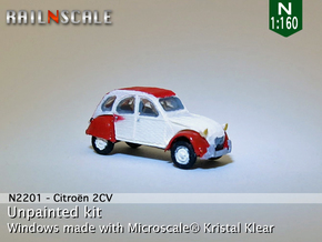 Citroën 2CV (N 1:160) in Frosted Ultra Detail