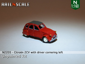 Citroën 2CV - cornering (N 1:160) in Frosted Ultra Detail