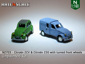 SET 2x Citroën 2CV - parked (N 1:160) in Frosted Ultra Detail