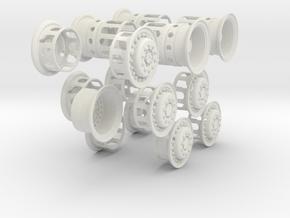 1-16 Military Dragon Wagon Rim Pack in White Natural Versatile Plastic