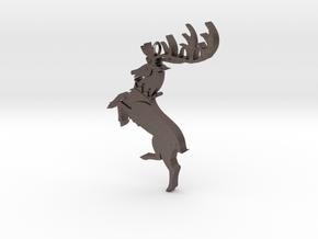 Baratheon Pendant in Polished Bronzed Silver Steel