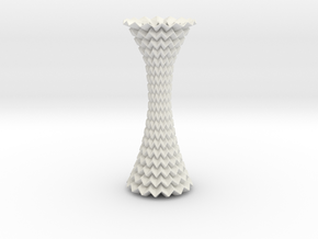 Decorative Column Tessellated Extended in White Strong & Flexible