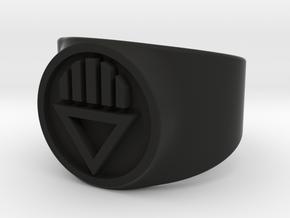 Black Death GL Ring Sz 8 in Black Natural Versatile Plastic