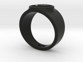Black Death GL Ring Sz 14 in Black Strong & Flexible