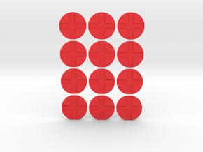 Generic Tags in Red Processed Versatile Plastic