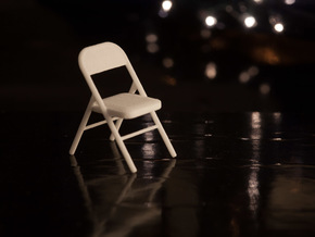 10 1:24 Metal Folding Chairs in White Natural Versatile Plastic