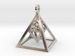 Sight of Pyramid Pendant Mini in Platinum