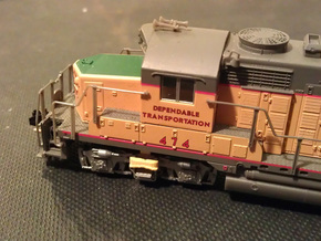 32 No. Re-Railers Type 2 Truck Mount N Scale 1:160 in Frosted Ultra Detail