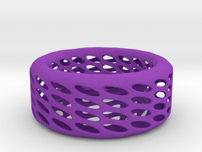 Eggcup Ring in Purple Processed Versatile Plastic