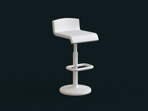 1:39 Scale Model - Bar Chair 01 in White Natural Versatile Plastic