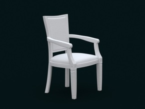 1:39 Scale Model - ArmChair 01 in White Strong & Flexible