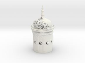 Ohm Lamp in White Natural Versatile Plastic