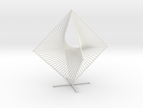 Tetrahemihexahedron Curve Stitching in White Strong & Flexible