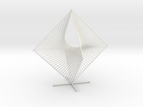 Tetrahemihexahedron Curve Stitching in White Natural Versatile Plastic