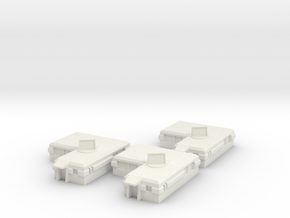 Officers Housing [ 3 Pack ] in White Natural Versatile Plastic