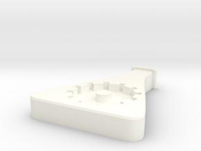 Collegium Pin in White Processed Versatile Plastic