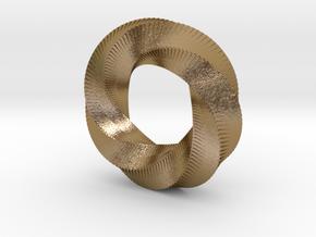 Mini (5,6) Mobius Loop in Polished Gold Steel