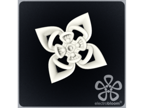 Sharon flower charm. in White Natural Versatile Plastic
