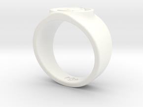 Alan Scott GL Ring Sz 14 in White Strong & Flexible Polished